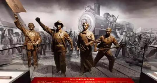 """来河南博物院,看""""红色文化陈列展"""""""