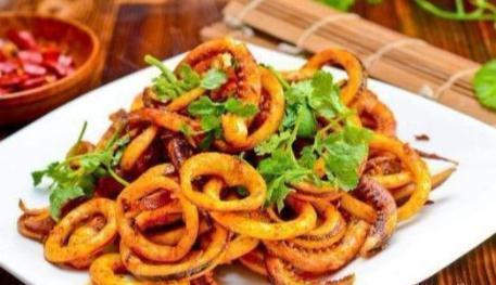 美食推荐:京酱鱿鱼丝,豆瓣肘子,醋溜虾尾,泡椒炒鸡胗的做法
