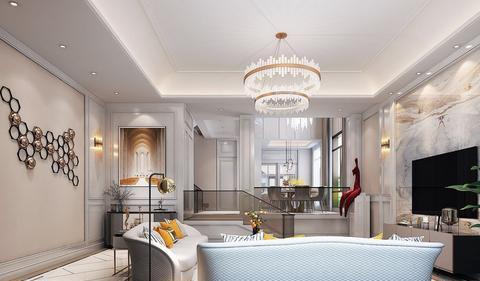 340㎡轻奢风别墅,一个能盛得下品位,包容下情绪的理想家