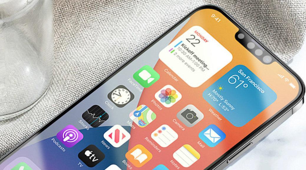小刘海加持!贴膜厂泄露iPhone 13高清渲染图