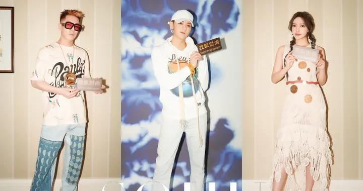 身着白色连衣裙的程潇太可了,卡斯柏居然想做搜狐时尚主持人?