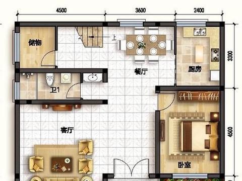 农村自建房设计图,184㎡欧式田园二层别墅设计图