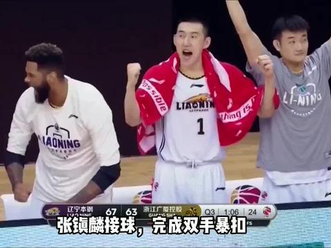 张镇麟首场季后赛表现不佳,只完成一次扣篮得到2分