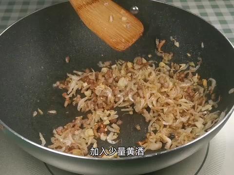 肉沫虾皮炒雪菜,美味可口的小咸菜,配米饭配米粥都合适