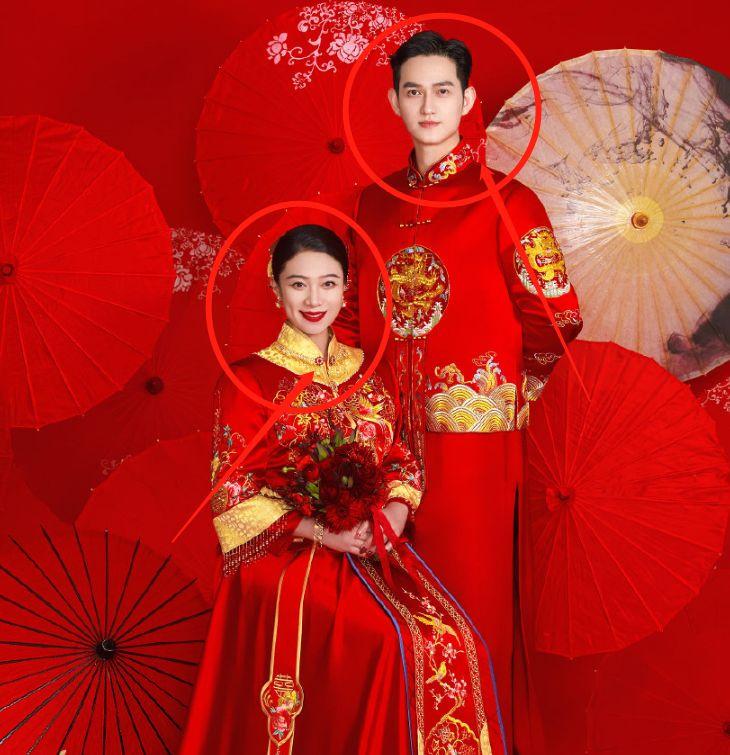 马可王丹妮结婚照曝光,二人中式婚服好有夫妻相,女方孕肚太抢镜