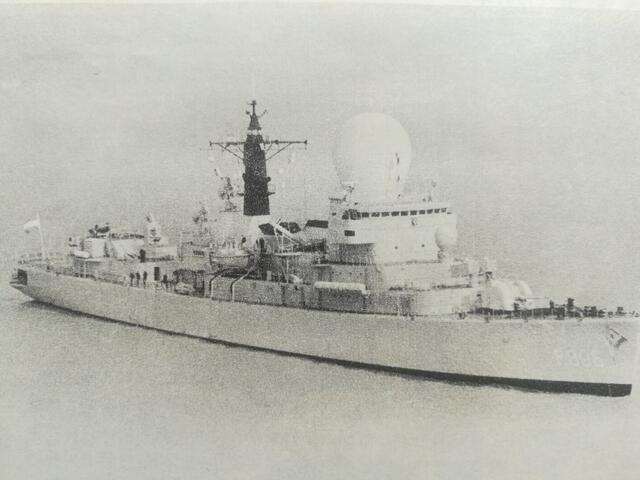 海军老照片 1986年荷兰海军访问我东海舰队