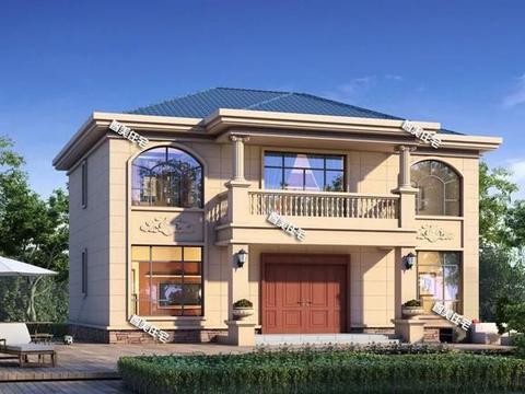 13×9.5米农村别墅,配七个卧室,简欧两层很雅致