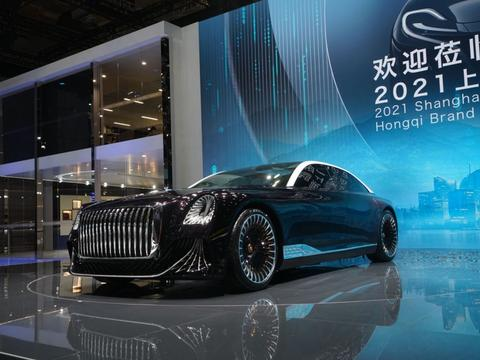 2021上海车展丨豪华大型四门GT轿车 新红旗L-Concept概念车发布