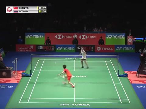 强势逆转天才少女,国羽一姐陈雨菲vs泰国一姐因达农,决战全英赛