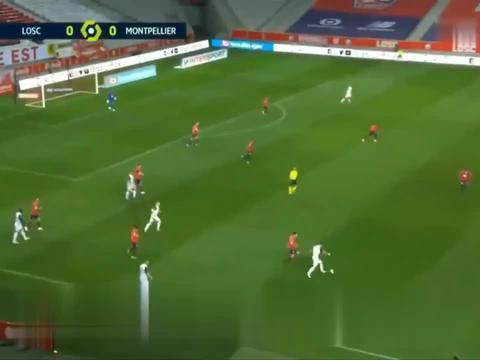 2020-2021法甲联赛第33轮:里尔1-1蒙彼利埃