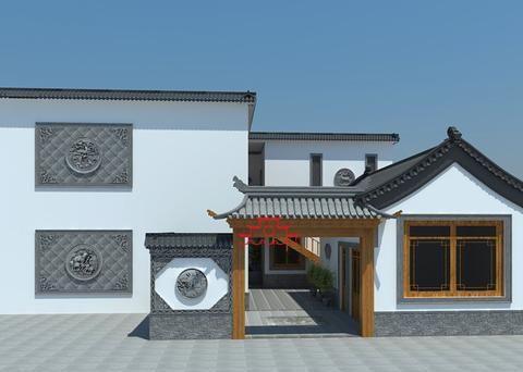偏爱使用荷花砖雕装饰的中式庭院