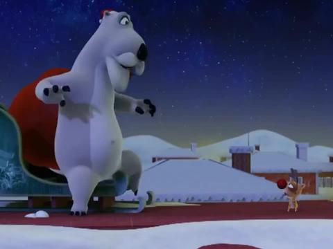 倒霉熊:圣诞节到了,笨熊假扮圣诞老人,为动物发放礼物