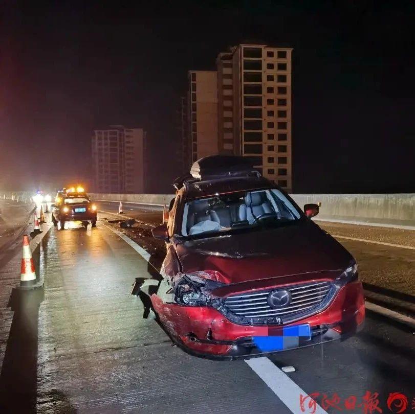 7年驾龄女司机高速路匝道逆行致两车相撞