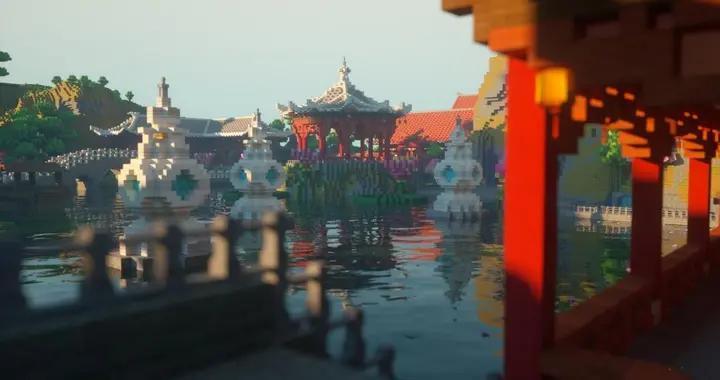 《迷你世界》不容错过的3张建筑图,中西合璧也能这么美