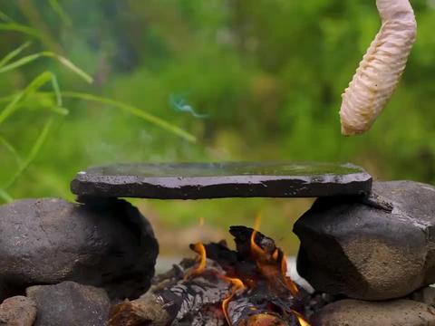 简简单单吃个石板烤火鸡翅!