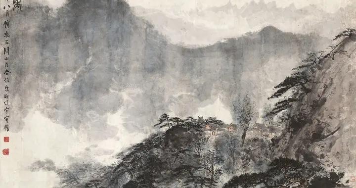 绘画大师傅抱石和关山月合力作品——《千山竞秀》赏析