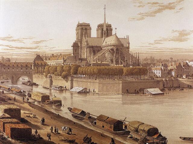 历史上的巴黎圣母院 尽在这些老图片里