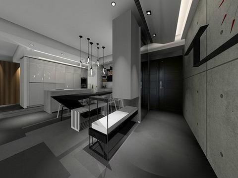 三室房,留白的设计空间,纯净利落富有层次感的住宅