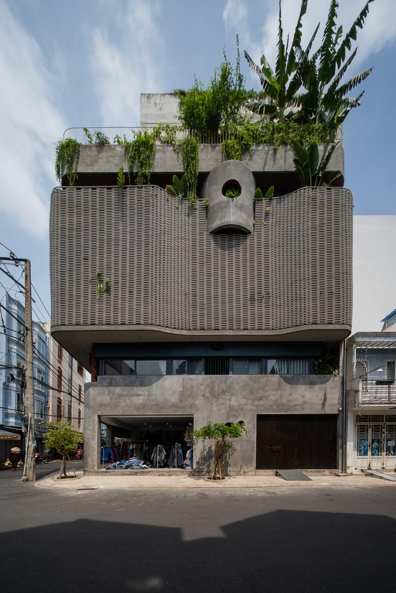 胡志明市花小姐之家,原始之中一簇自然绿 / H.2