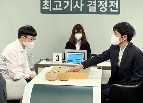 姜升旼:因为李昌镐才学的围棋,韩国最强棋士战第六轮李昌镐败北