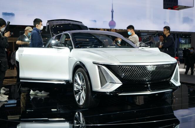加速在中国市场电动化 实拍凯迪拉克全新纯电SUV LYRIQ
