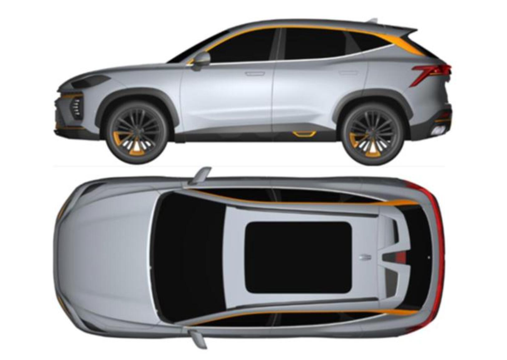 捷途全新SUV申报图曝光 定位或低于X70 PLUS