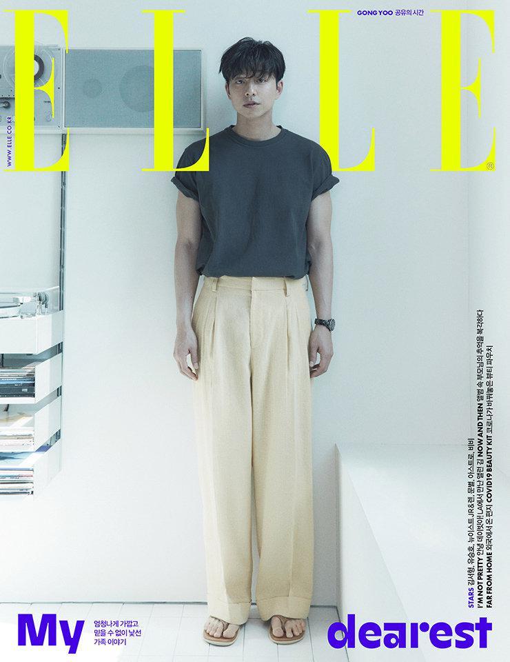 孔刘×韩国版《ELLE》 封面写真,绅士优雅范