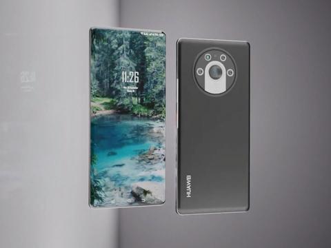华为Mate50Pro渲染图:1寸传感器配徕卡6摄,前置摄像头屏下隐藏