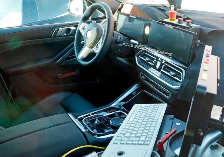 宝马全新X5 M海外路试谍照 换装全新电子挡杆
