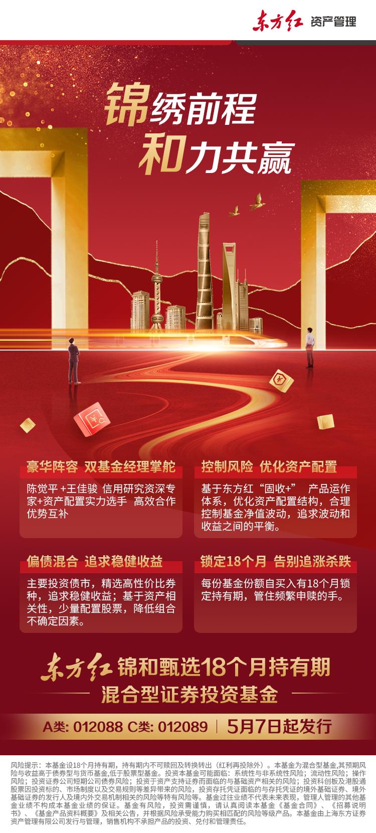 """依托专业资产配置能力 东方红推出18个月持有期""""固收+""""基金"""