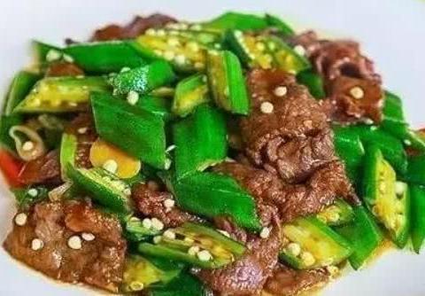 美食推荐:秋葵烧牛肉,小米虾丸,蜜汁低脂鸡胸肉,水豆豉炒鸭掌