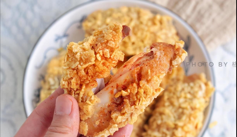 不加一滴油的薯片烤鸡翅,外皮比肉还好吃