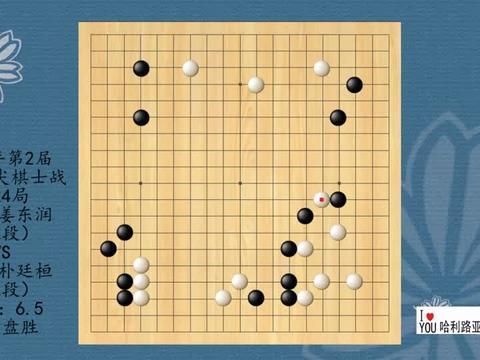 2021年第2届韩国顶尖棋士战第24局,姜东润VS朴廷桓,白中盘胜