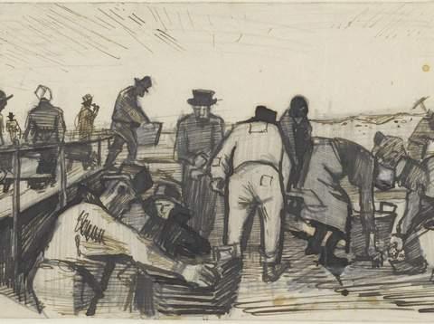 揭秘梵高在给他兄弟和朋友的信中,随手画的素描作品的故事