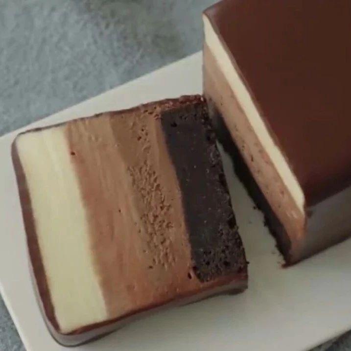 假期美食计划,布朗尼巧克力芝士蛋糕,要不要试试
