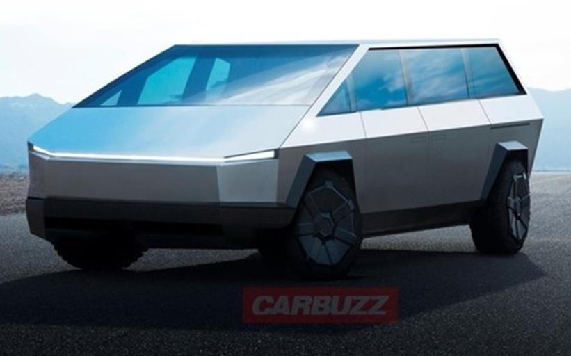 全新特斯拉MPV车型的渲染图 简约而不简单