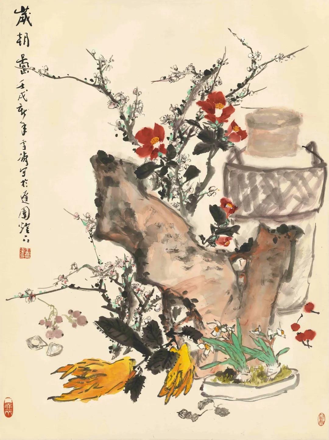王雪涛的画笔墨技艺娴熟,而且具有高度敏锐的艺术感知力……