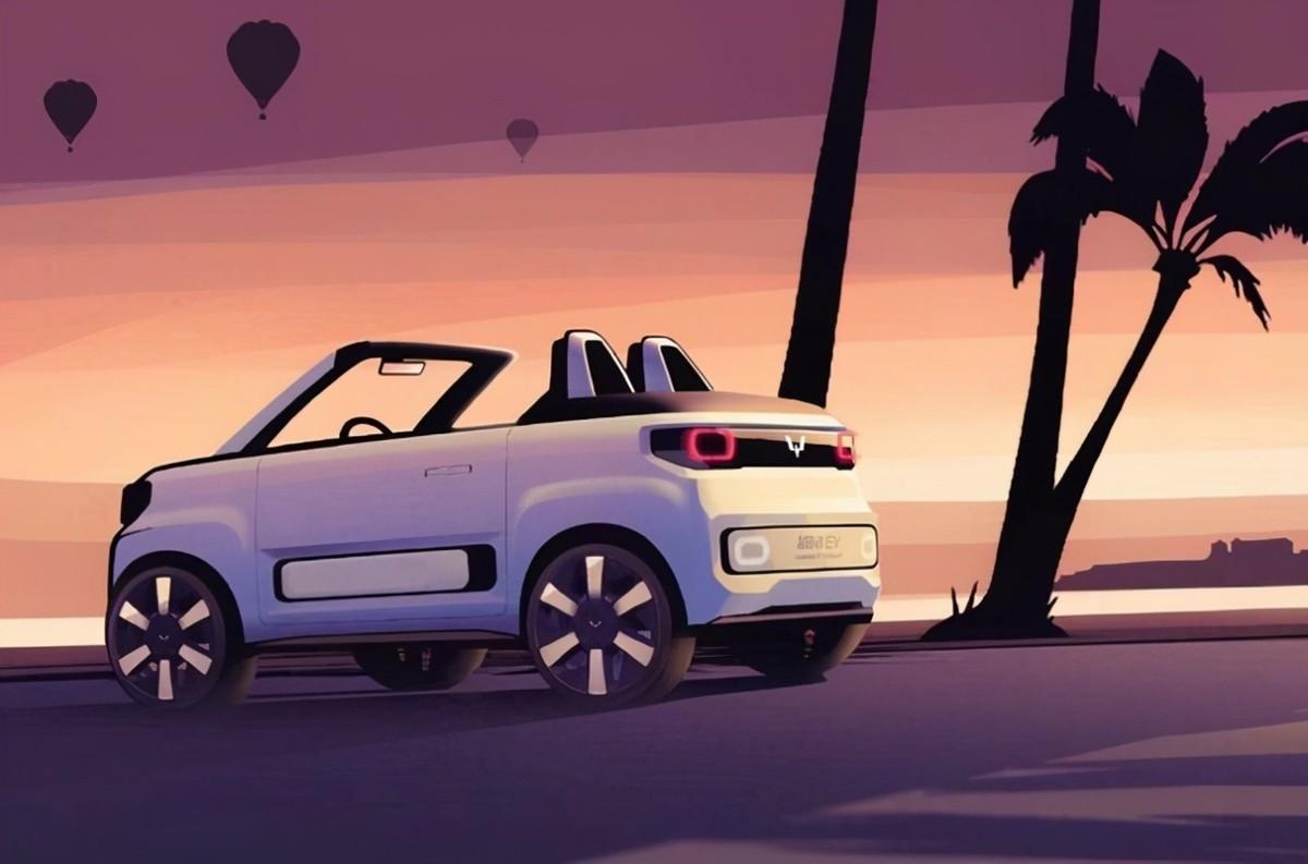 4万元的敞篷车,又萌又拉风!宏光MINI EV敞篷版亮相上海车展