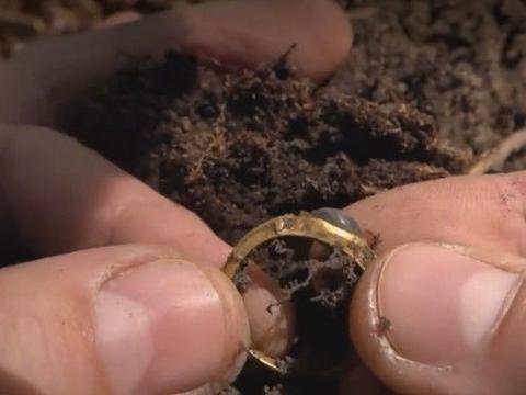 男子用金属探测发现泥土有异样,结果竟挖到这种好东西