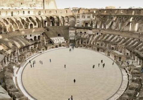 古罗马斗兽场将安装新地板,从角斗士的角度欣赏这座古建筑