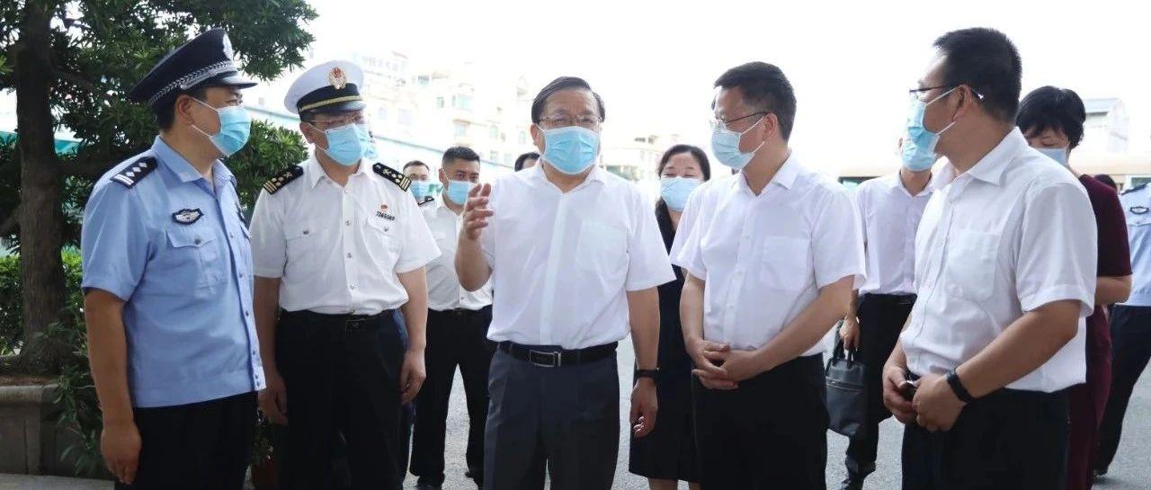 秦如培到东兴市检查指导边境新冠肺炎疫情境外输入防控工作