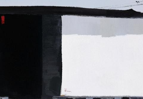 吴冠中画一扇黑色大门,为何能拍7475万高价?专家:这不是门