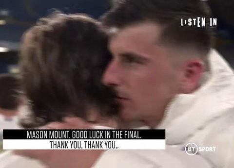莫德里奇赛后拥抱芒特:祝你们决赛好运