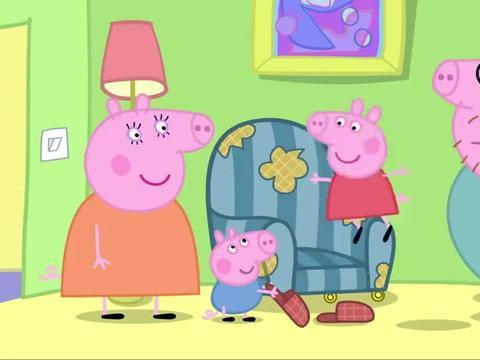 小猪佩奇:猪爸爸卖了自己的老古董椅子
