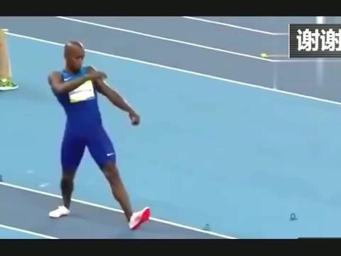黑人跳远选手火了!差点跳过沙池飞出去,边上裁判都看懵了!