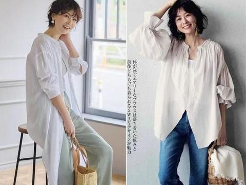 """这才叫""""不装嫩不显老"""",48岁日本模特的减龄穿搭,太值得借鉴了"""