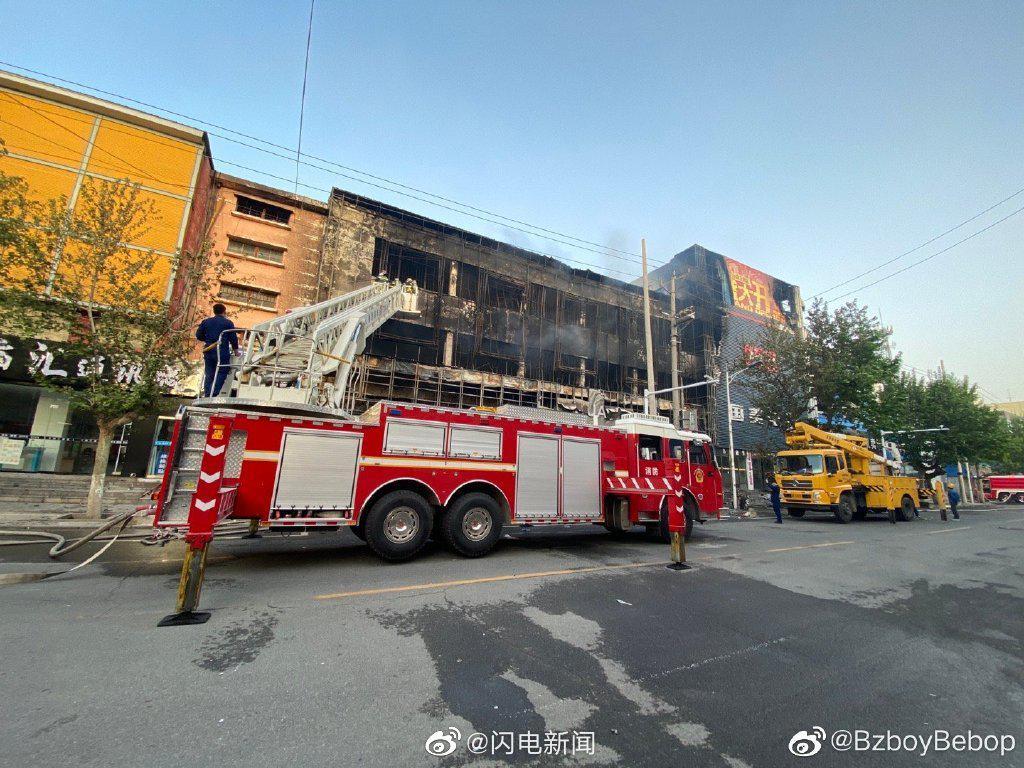 沂南一商城发生火灾已被扑灭