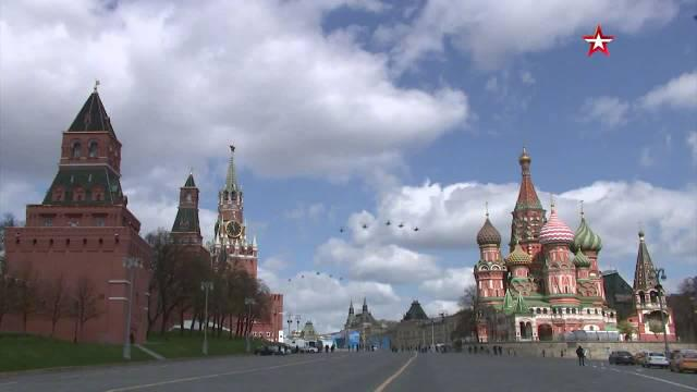 提前欣赏!俄罗斯胜利日阅兵空中编队受阅彩排全程视频