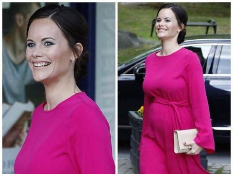 瑞典王妃孕期穿紧身裙装,和梅根一样爱穿细高跟,谁的造型更美?