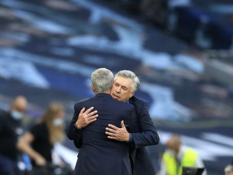 安切洛蒂:没想到穆里尼奥会执教罗马 英超有最好的球员